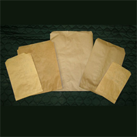 BROWN KRAFT MERCHANDISE BAGS