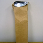 "3-3/8""x2-1/2""x13"" NATURAL KRAFT BAGS WITH FOIL LINING & DEGASSING VALVE"
